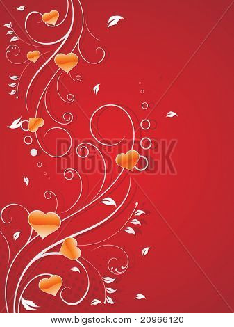 vector illustration of romantic love background