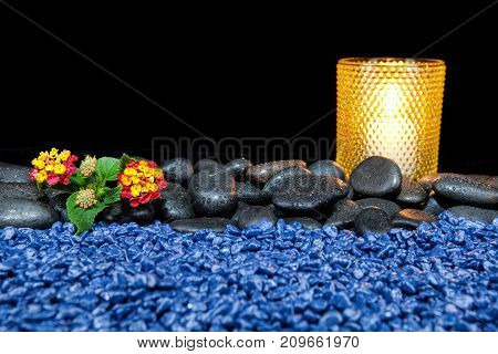 Beautiful spa composition on a black background
