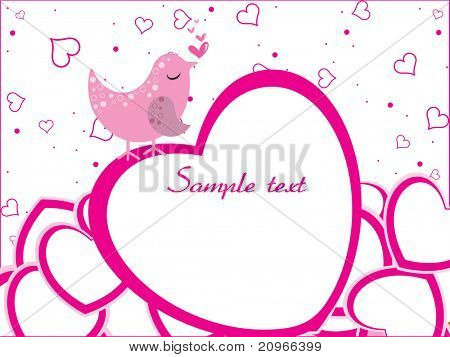 abstract romantic love background, vector illustration poster