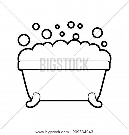 bathtub foam bubbles clean hygiene interior ceramic icon