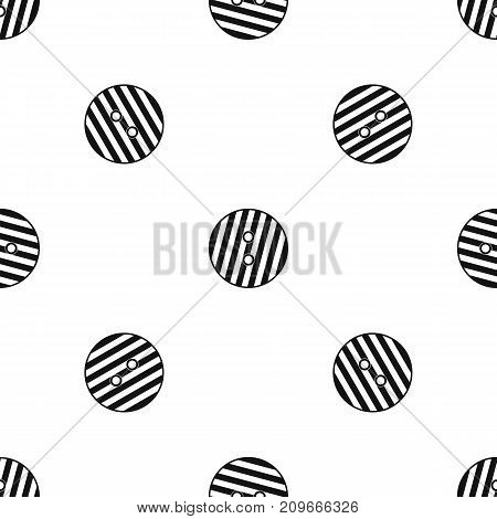 Striped sewing button pattern repeat seamless in black color for any design. Vector geometric illustration