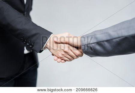 businessman handshake deal / concept  handshake deal