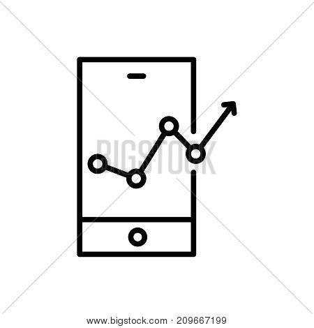 Premium web analytics icon or logo in line style. High quality sign and symbol on a white background. Vector outline pictogram for infographic, web design and app development.