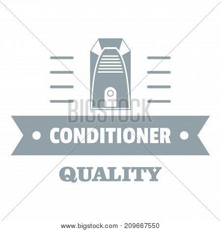 Quality conditioner logo. Simple illustration of quality conditioner vector logo for web
