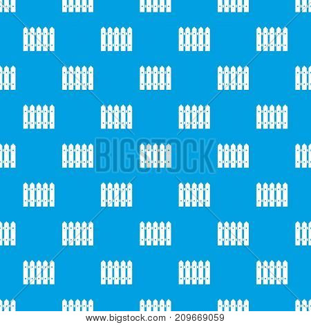 Wooden fence pattern repeat seamless in blue color for any design. Vector geometric illustration