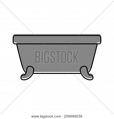 bathtub clean hygiene interior ceramic icon vector illustration