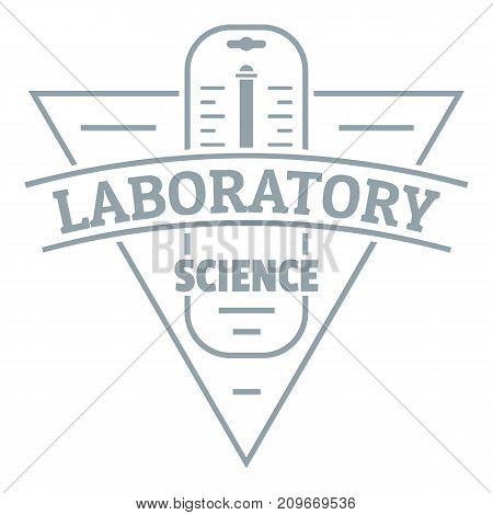 Laboratory logo. Simple illustration of laboratory vector logo for web