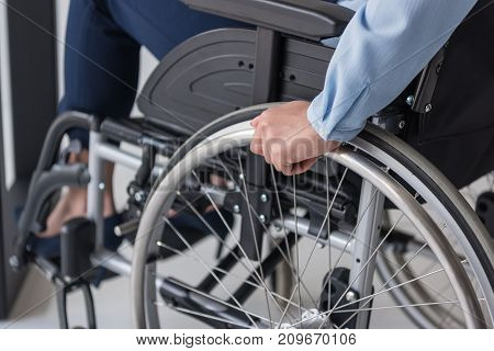 Disabled Businesswoman In Wheelchair