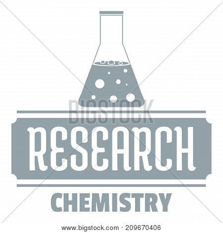 Research chemical logo. Simple illustration of research chemical vector logo for web