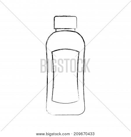 shampoo plastic bottle lotion or shower gel template design vector illustration