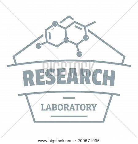Research molecular logo. Simple illustration of research molecular vector logo for web