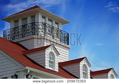 The Roof line of a coastal cottage