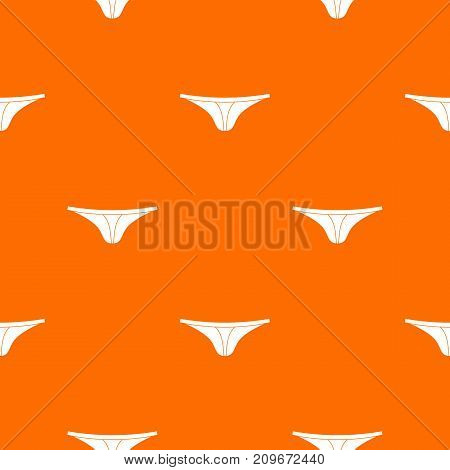 Thongs pattern repeat seamless in orange color for any design. Vector geometric illustration