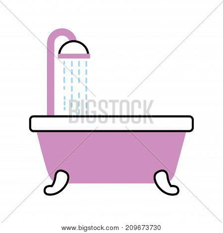 bathroom bathtub shower water relaxation vector illustration
