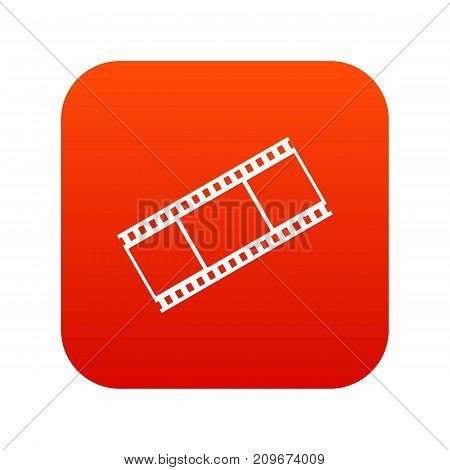 Film with frames icon digital red for any design isolated on white vector illustration