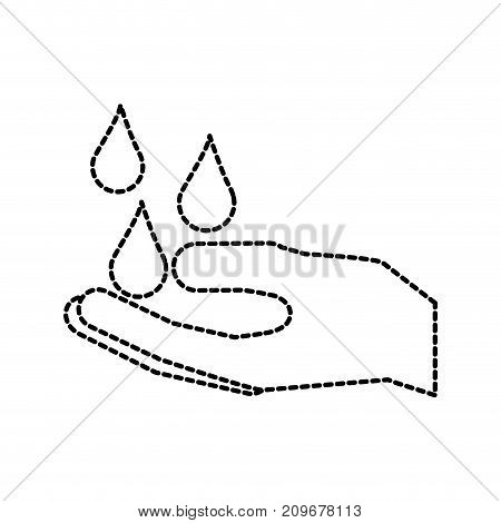 hand with water drop clean hygiene symbol vector illustration