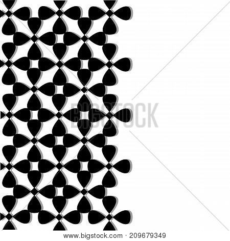 Decorative Card. White Vertical Seamless Pattern