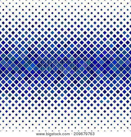 Abstract diagonal square pattern background - geometric vector design from blue squares