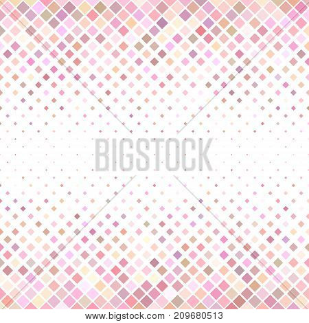Pink abstract square pattern background - geometrical vector illustration from diagonal squares
