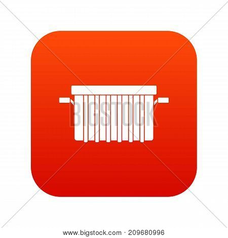 Garbage tank icon digital red for any design isolated on white vector illustration