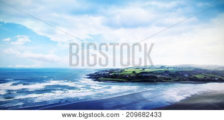 Idyllic view of sea against sky