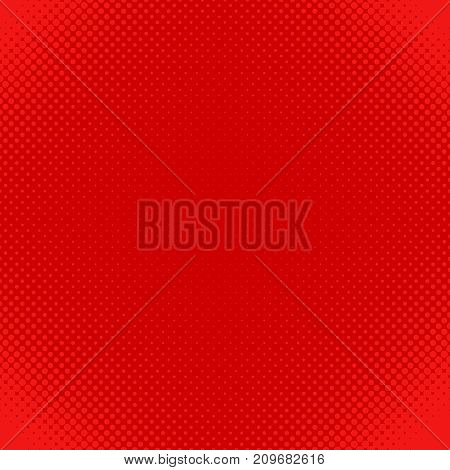Red abstract halftone dot pattern background - vector design from circles in varying sizes
