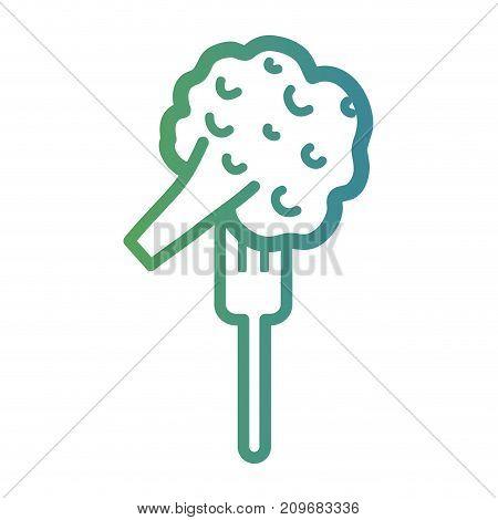 line broccoli fork in the fork utensil