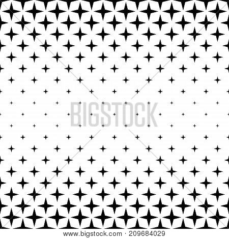 Black and white star pattern border design - abstract vector background graphic from geometric shapes