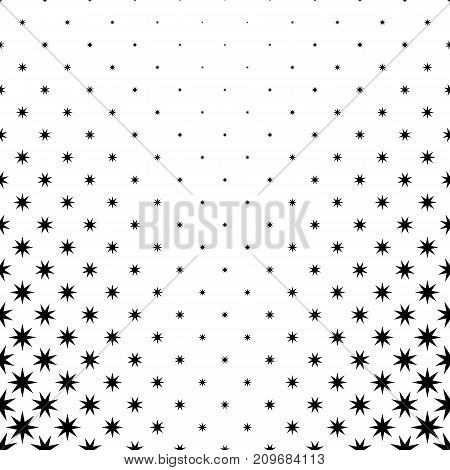Monochromatic star pattern - abstract vector background graphic design from geometrical polygonal shapes