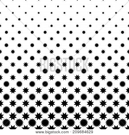 Black and white abstract star pattern - geometrical monochrome vector background design from polygonal shapes