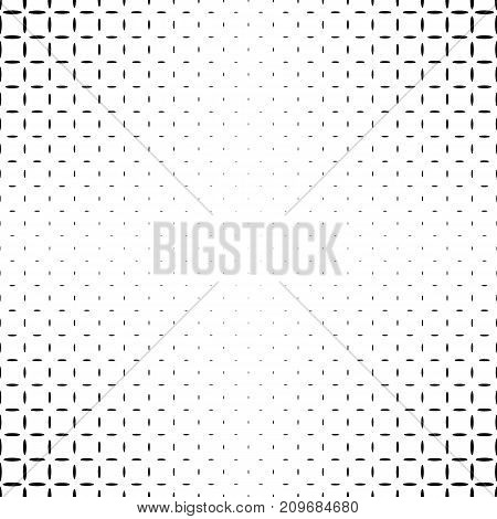 Monochromatic abstract ellipse pattern background - black and white geometric halftone vector design