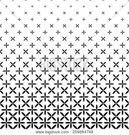 Monochrome abstract ellipse pattern background - black and white geometrical halftone vector graphic