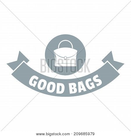 Lady bags logo. Simple illustration of lady bags vector logo for web