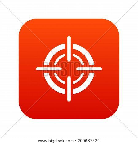 Target icon digital red for any design isolated on white vector illustration