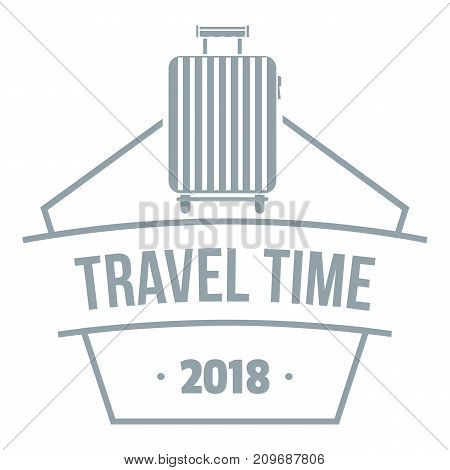 Travel suitcase logo. Simple illustration of travel suitcase vector logo for web