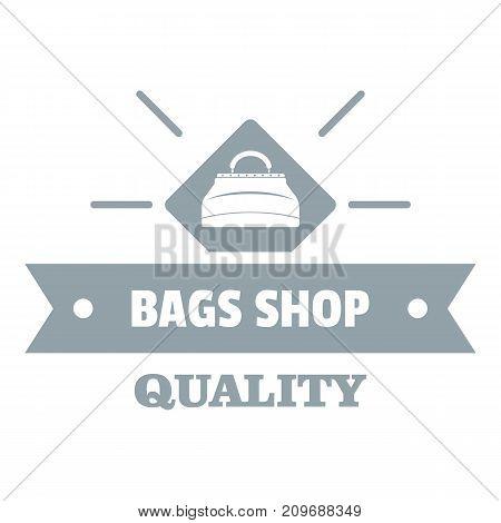 Shop bags logo. Simple illustration of shop bags vector logo for web