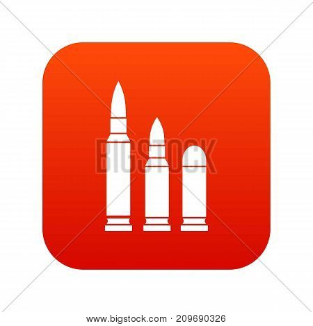 Bullets icon digital red for any design isolated on white vector illustration