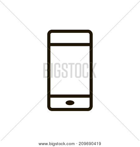 Smartphone icon flat icon. Single high quality outline symbol of info for web design or mobile app. Thin line signs of phone for design logo, visit card, etc. Outline logo of mobile