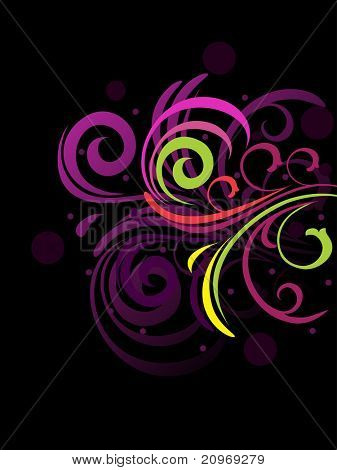 poster of abstract creative floral background, vector illustration