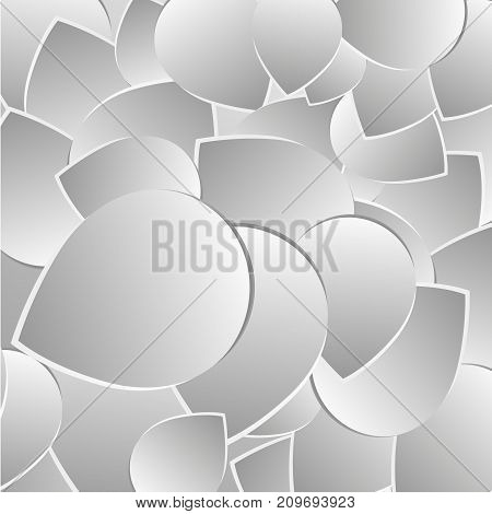 Abstract background with drop shadows. Paper petal Vector illustration. eeps 10
