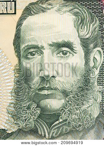 Andres Avelino Caceres portrait from Peruvian money