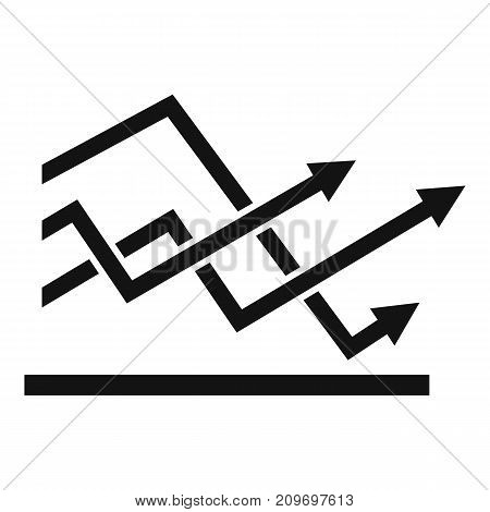 Line chart icon. Simple illustration of line chart vector icon for any web design
