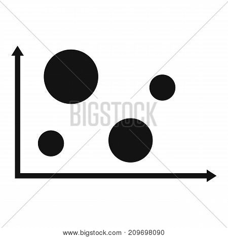 Finance diagram icon. Simple illustration of diagram vector icon for any web design