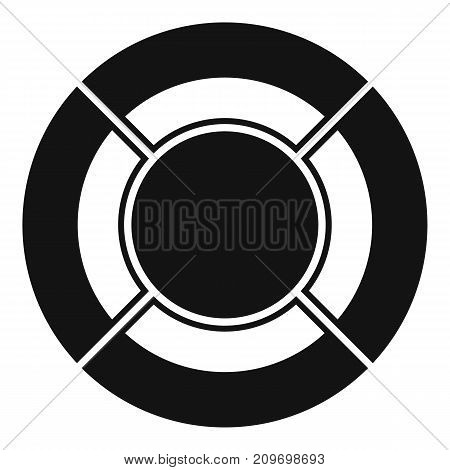 Circle graph icon. Simple illustration of circle graph vector icon for any web design
