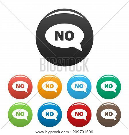 No icons set. Vector simple illustration of no icons set isolated on white background