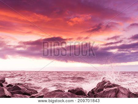 Fiery Backdrop Bright Illumination