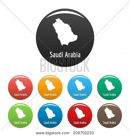 Saudi Arabia map in black set. Simple illustration of Saudi Arabia map vector isolated on white background