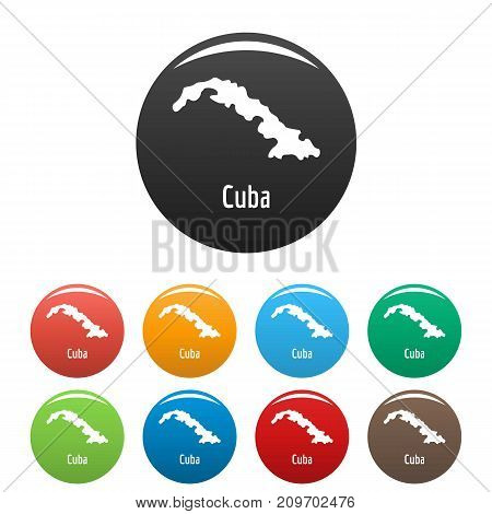 Cuba map in black set. Simple illustration of Cuba map vector isolated on white background