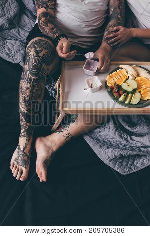 Couple Having Breakfast Together