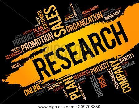 Research word cloud collage , business concept background